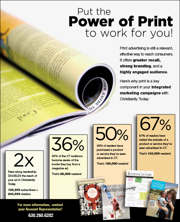 power of print media An engaging and consistent voice leads fans of your print campaigns to check you out on social media, and makes your social fans pay attention to your print ads.